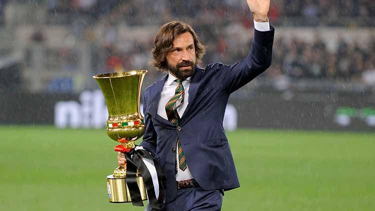 Legenda Juventus, Alessandro Del Piero, yakin Andrea Pirlo bisa menjadi pelatih yang lebih hebat dari Zinedine Zidane di Allianz Stadium. Copyright: © Getty images