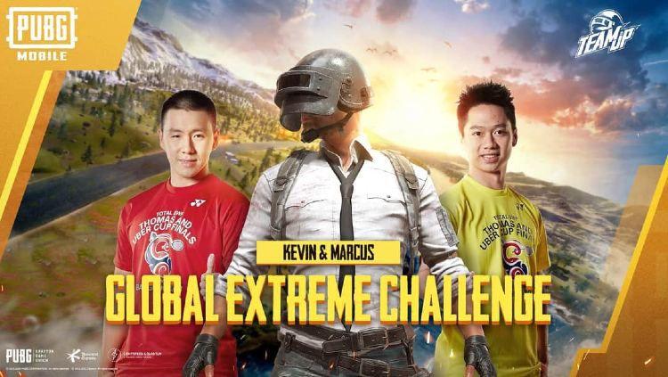 Kevin Sanjaya dan Marcus Gideon menjadi wakil Indonesia di PUBG Global Extreme Challenge. Copyright: © PUBG