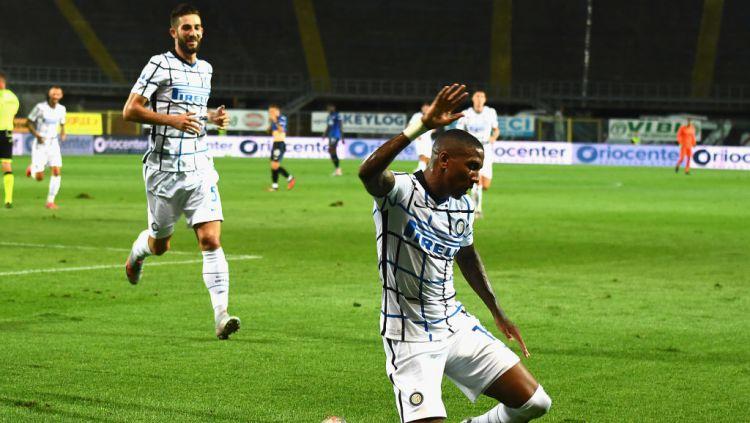 Inter Milan menutup Serie A Italia 2019/2020 dengan mengalahkan tuan rumah Atalanta 2-0. Hasil itu membawa mereka finis di peringkat kedua klasemen akhir. Copyright: © Claudio Villa - Inter/Inter via Getty Images