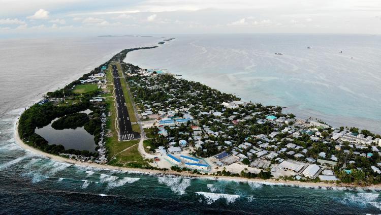 Pemandangan pulau Tuvalu. Copyright: © Mario Tama/Getty Images