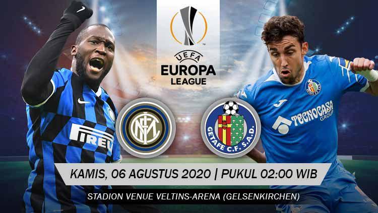 Berikut link live streaming pertandingan babak 16 besar Liga Europa musim 2019/2020 antara tuan rumah Inter Milan vs Getafe. Copyright: © Grafis: Yanto/INDOSPORT