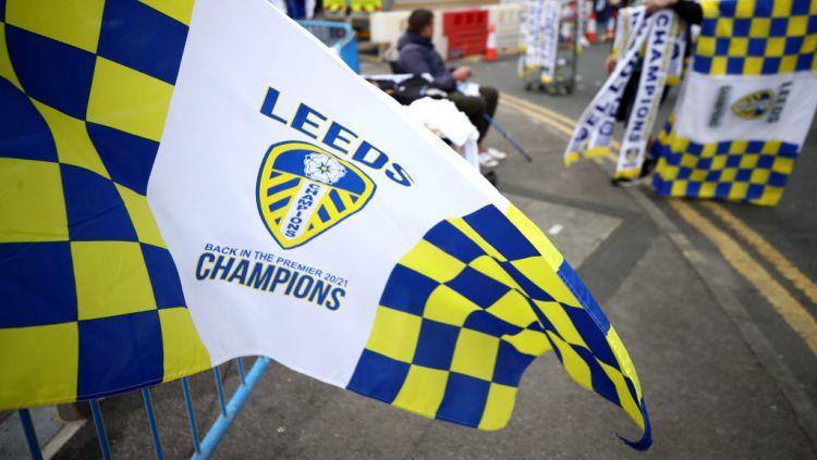 Kehadiran kembali Leeds United ke kompetisi tertinggi sepak bola Inggris, Liga Primer Inggris, menjadi sorotan. Copyright: © Tim Goode/PA Images via Getty Images
