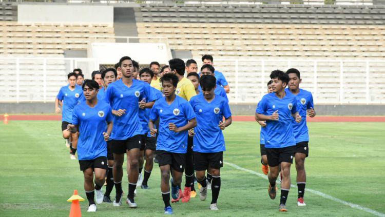Pelatih Timnas Indonesia U-19, Shin Tae-yong memutuskan memulangkan 11 pemain dari pemusatan latihan (TC) di Jakarta. Copyright: © PSSI