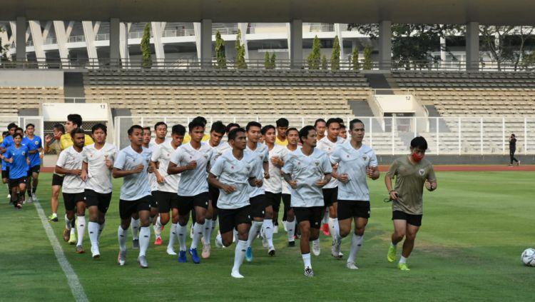 Latihan perdana Timnas Indonesia. Copyright: © PSSI