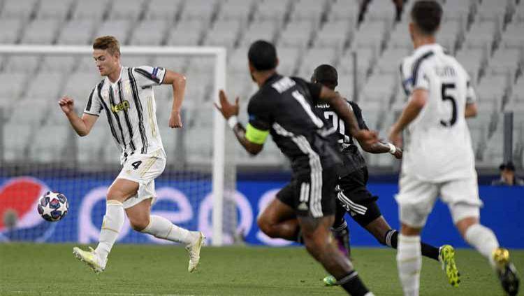 Matthijs De Ligt berperan besar dalam kemenangan Juventus atas Spezia di Liga Italia wala sempat digosipkan masuk dafta jual musim depan. Copyright: © Filippo Alfero - Juventus FC/Juventus FC via Getty Images