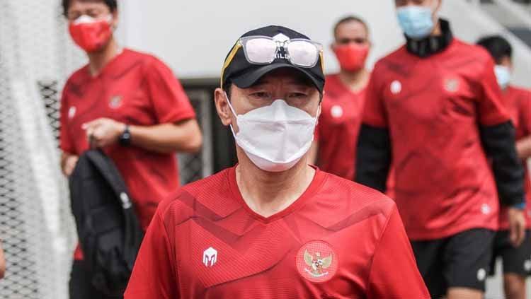 Shin Tae-yong, pelatih Timnas Indonesia. Copyright: © Naufal/PSSI