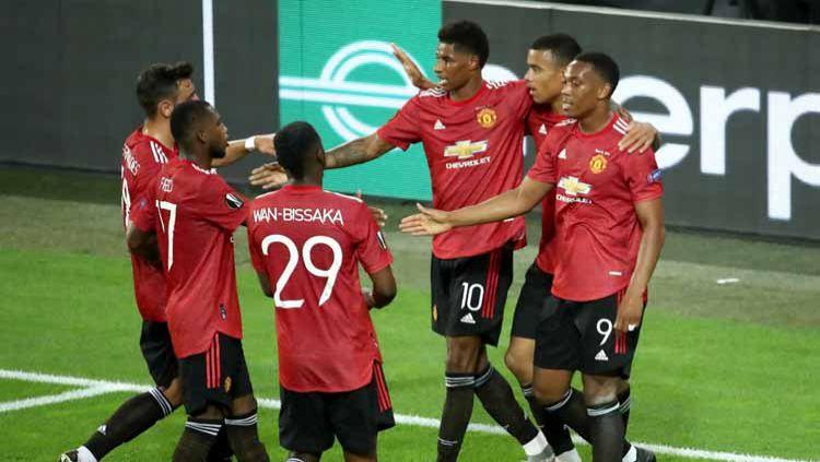 Jelang jalani laga perdana Liga Inggris melawan Crystal Palace, Manchester United berpotensi ditinggal 11 pemainnya. Copyright: © Alex Grimm - UEFA/UEFA via Getty Images
