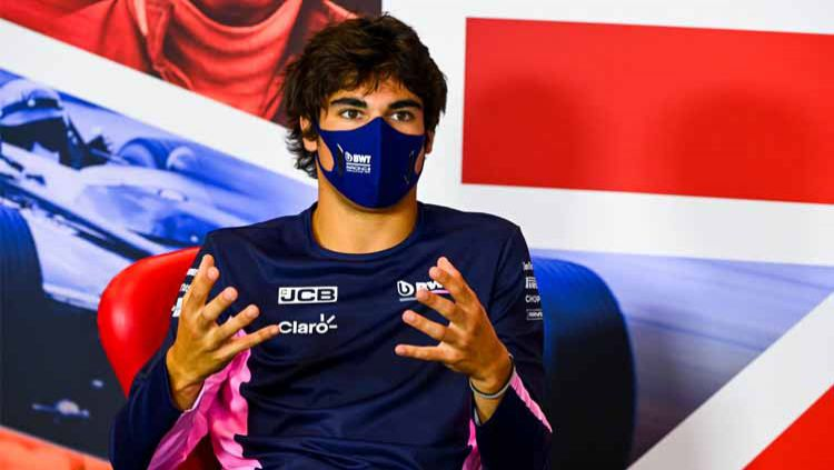 Pembalap Racing Point, Lance Stroll. Copyright: © Mark Sutton/Pool via Getty Images