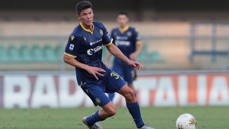 Matteo Pessina, pemain Atalanta yang dipinjamkan ke Hellas Verona dan kini diincar AC Milan. Copyright: © Emilio Andreoli/Getty Images