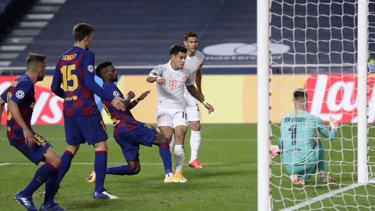 Coutinho Bawa Bayern Munchen Bantai Barcelona, Liverpool Ketiban Durian Runtuh Copyright: © Getty Images