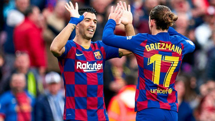 Gara-gara Lionel Messi putuskan menetap di Barcelona, Antoine Griezmann malah ingin gabung Manchester City pada bursa transfer musim panas ini. Copyright: © Quality Sport Images/Getty Images
