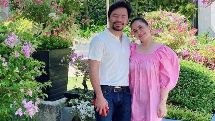 Petinju asal Filipina, Manny Pacquiao menunjukkan rasa cinta pada sang istri, Jinkee Pacquiao dengan cara amat romantis. Copyright: © Instagram/Manny Pacquiao