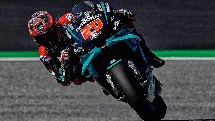 Pembalap MotoGP dari tim Petronas Yamaha SRT, Fabio Quartararo. Copyright: © Twitter @FabioQ20