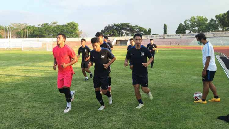 Suasana latihan perdana PSIS jelang lanjutan Liga 1 2020. Copyright: © Media PSSI