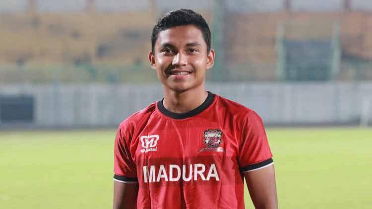 Fadhilah Nur Rahman, menjadi salah satu pemain proyeksi Timnas U20 yang berada di skuat Madura United. Copyright: © MO Madura United