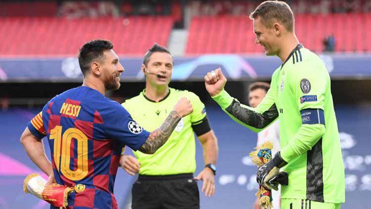 Sukses juarai Piala Dunia Antarklub membuat Bayern Munchen pecahkan dua rekor gila Barcelona. Tak cuma enam gelar juara setahun melainkan juga perubahan Hans-Dieter Flick yang jadi Pep Guardiola. Copyright: © Michael Regan - UEFA/UEFA via Getty Images