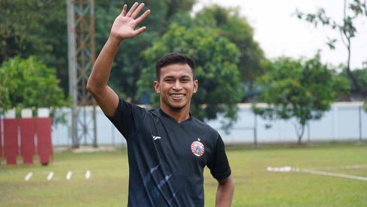 Osvaldo Haay gabung latihan Persija Jakarta. Copyright: © Media Officer Persija