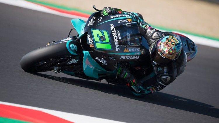 Pembalap Petronas Yamaha SRT, Franco Morbidelli, keluar sebagai juara MotoGP Teruel 2020. Copyright: © Mirco Lazzari gp/Getty Images.