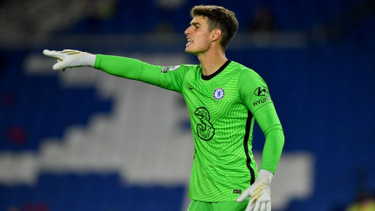 Kepa Arrizabalaga di laga Brighton vs Chelsea Copyright: © Glyn Kirk/PA Images via Getty Images