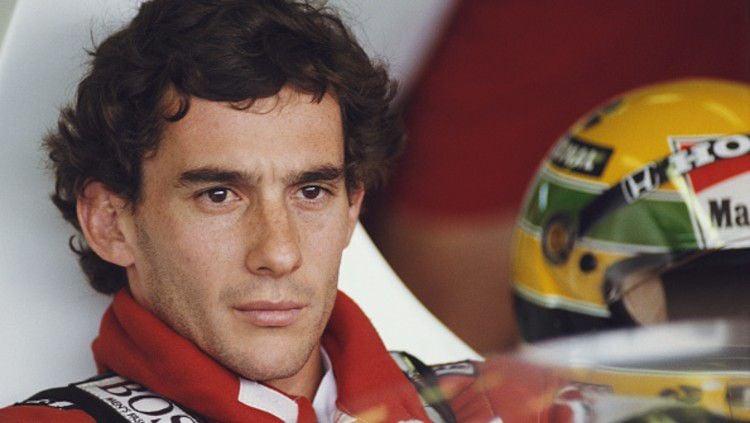 Legenda F1 asal Brasil, Ayrton Senna. Copyright: © (Photo by Pascal Rondeau/Getty Images)