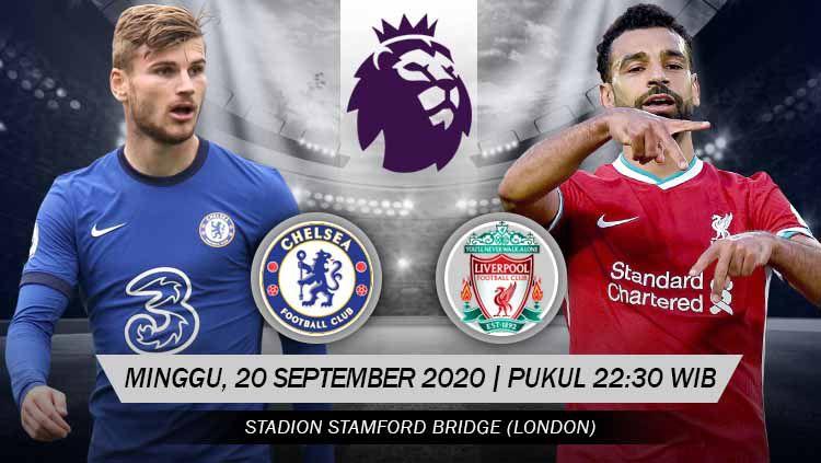 Berikut link live streaming pertandingan antara Chelsea vs Liverpool dalam laga lanjutan kompetisi Liga Inggris musim 2020/2021. Copyright: © Grafis: Yanto/INDOSPORT