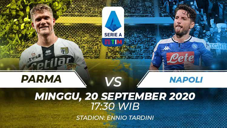 Berikut link live streaming pertandingan Serie A Italia pada giornata pertama yang mempertemukan antara Parma vs Napoli. Copyright: © Grafis:Frmn/Indosport.com