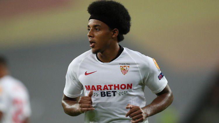 Jules Kounde, pemain Sevilla. Copyright: © James Williamson - AMA/Getty Images