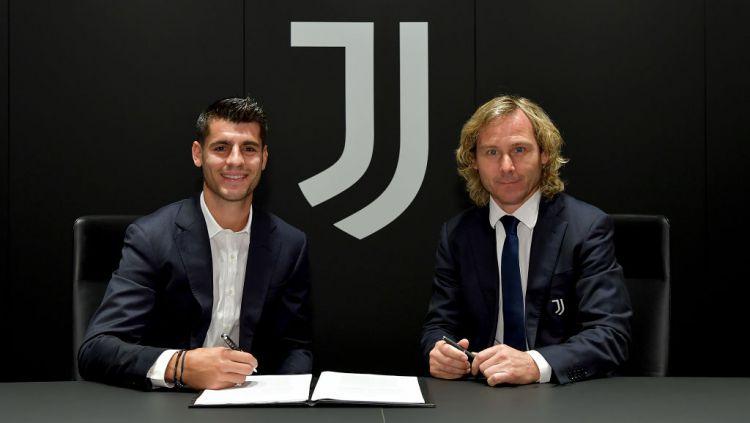 Alvaro Morata dan Pavel Nedved Copyright: © Daniele Badolato - Juventus FC via Getty Images
