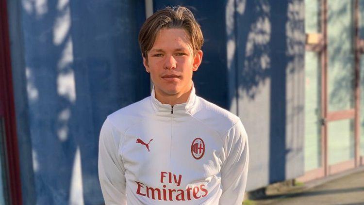 Rekrutan belia AC Milan, Wilgot Marshage. Copyright: © Twitter AC Milan Reports