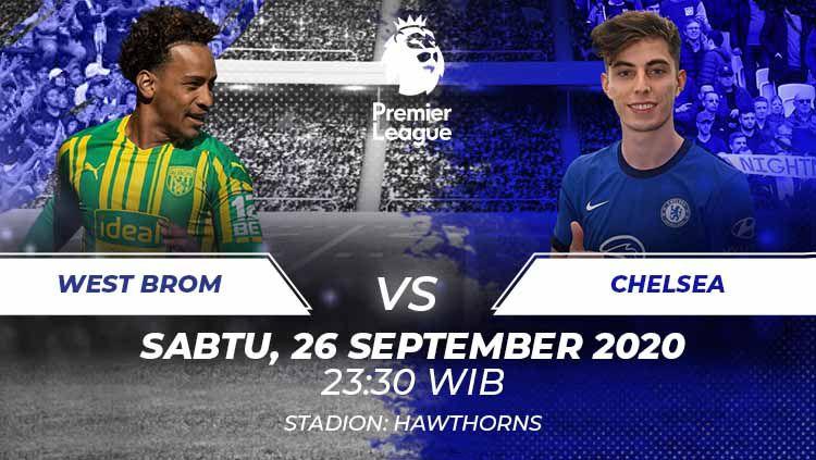 Indosport - West Brom vs Chelsea di laga pekan ketiga Liga Inggris. Anda bisa menyaksikan pertandingan itu melalui live streaming.