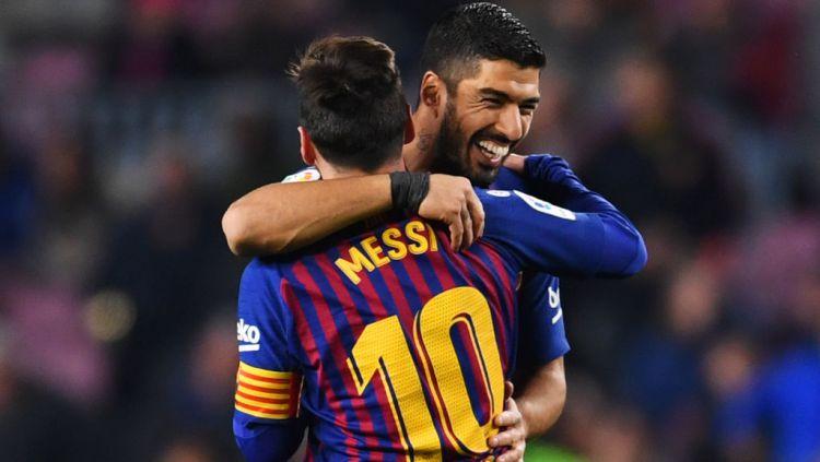 Bakal tinggalkan Atletico Madrid meskipun juara LaLiga Spanyol 2020-2021, Luis Suarez sudah janjian dengan Lionel Messi yang juga mau hengkang dari Barcelona? Copyright: © David Ramos/Getty Images