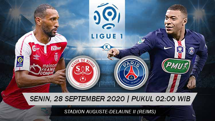 Pertandingan Stade de Reims vs Paris Saint-Germain (Ligue 1) Copyright: © Grafis: Yanto/Indosport.com