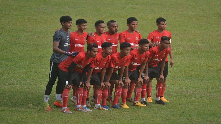 Sriwijaya FC kembali melakoni laga uji coba melawan tim lokal, Persegrata di Stadion Bumi Sriwijaya, Sabtu (26/9/2020) jelang Liga 2 2020. Copyright: © Muhammad Effendi/INDOSPORT