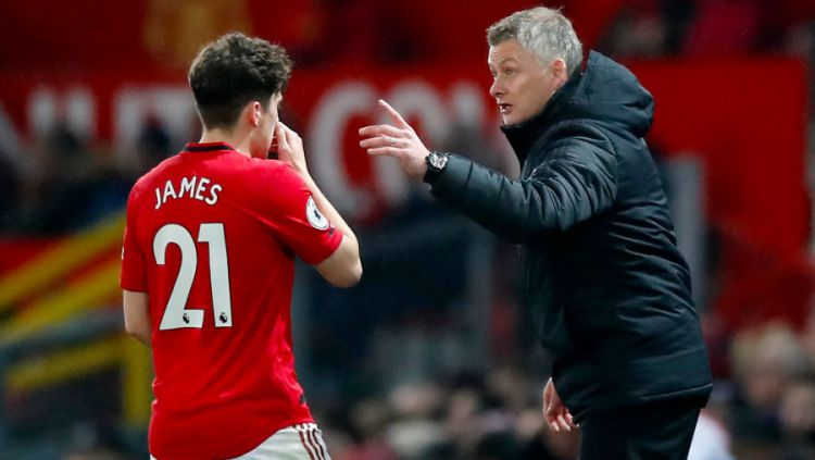 Pemain Manchester United, Daniel James dan pelatihnya, Ole Gunnar Solskjaer Copyright: © Martin Rickett/PA Images via Getty Images