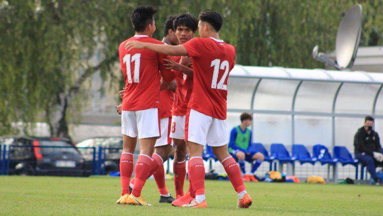 Pertandingan uji coba antara Timnas Indonesia U-19 vs Dinamo Zagreb U-19, Senin (28/09/20). Copyright: © Bandung Saputra/PSSI