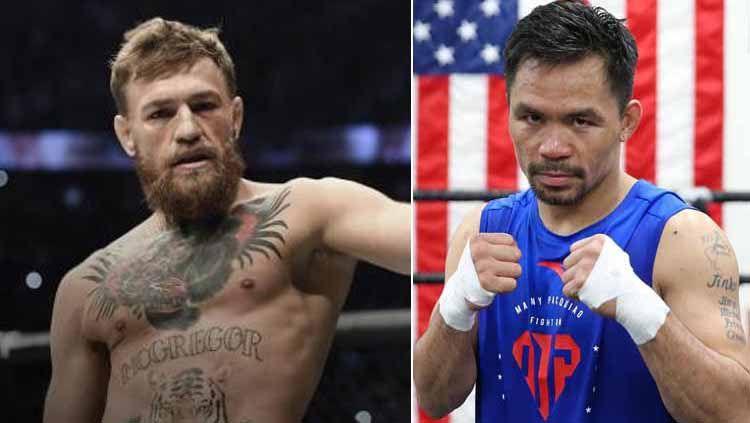 Manny Pacquiao mengajukan syarat yang harus dipenuhi supaya duel kontra Conor McGregor bisa terwujud. Copyright: © Instagram