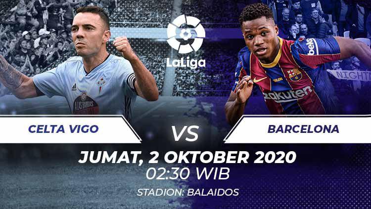 Celta Vigo vs Barcelona di laga pekan ke-4 LaLiga Spanyol. Anda bisa menyaksikan pertandingan tersebut melalui live streaming. Copyright: © Grafis:Frmn/Indosport.com