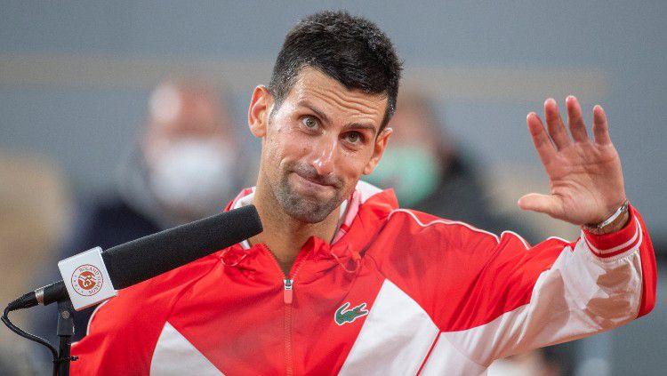 Novak Djokovic di Prancis Terbuka 2020. Copyright: © Tim Clayton/Corbis via Getty Images