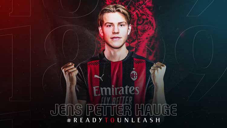 Pemain baru AC Milan, Jens Petter Hauge. Copyright: © Twitter@acmilan