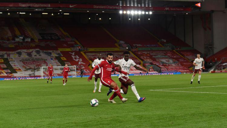 Berikut adalah hasil pertandingan babak 16 besar Carabao Cup antara Liverpool vs Arsenal yang berakhir dengan kemenangan untuk Arsenal melalui adu penalti. Copyright: © John Powell/Liverpool FC via Getty Images