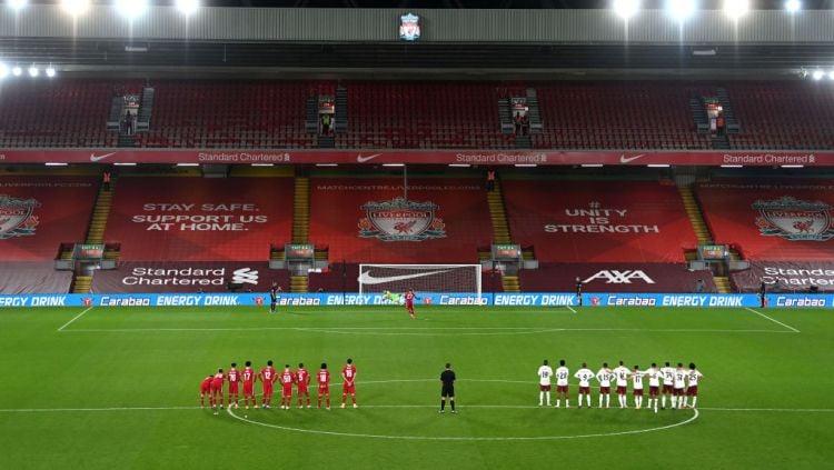 Momen Divock Origi gagal mencetak gol di adu penalti antara Liverpool vs Arsenal Copyright: © Laurence Griffiths/Getty Images