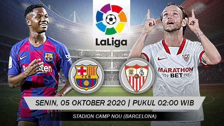 Link live streaming pertandingan Barcelona vs Sevilla (LaLiga). Copyright: © Grafis: Yanto/Indosport.com