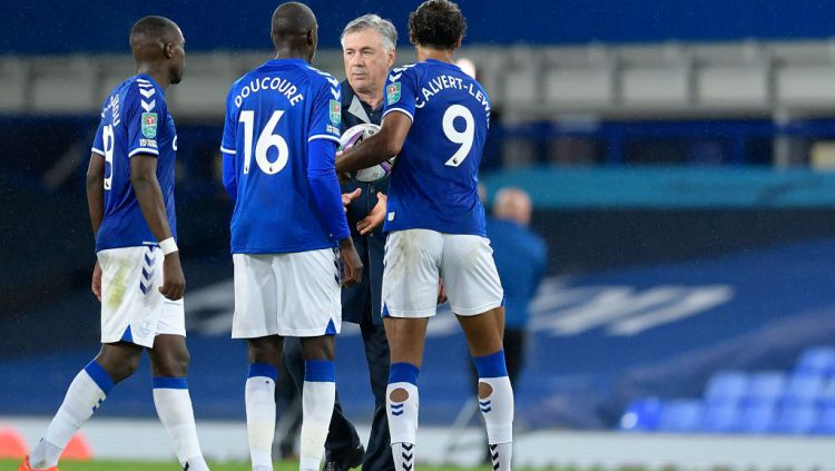 Fans Liverpool Tak Terima Dengan Ancelotti Soal James Rodriguez Copyright: © Tony McArdle/Everton FC via Getty Images