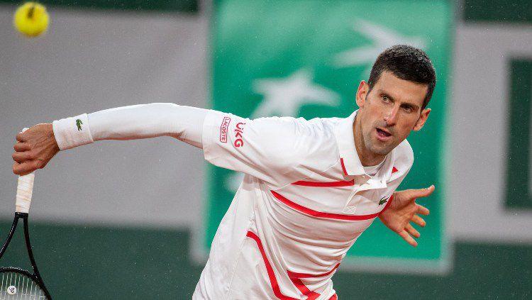Novak Djokovic di hari ketujuh Prancis Terbuka 2020. Copyright: © Tim Clayton/Corbis via Getty Images