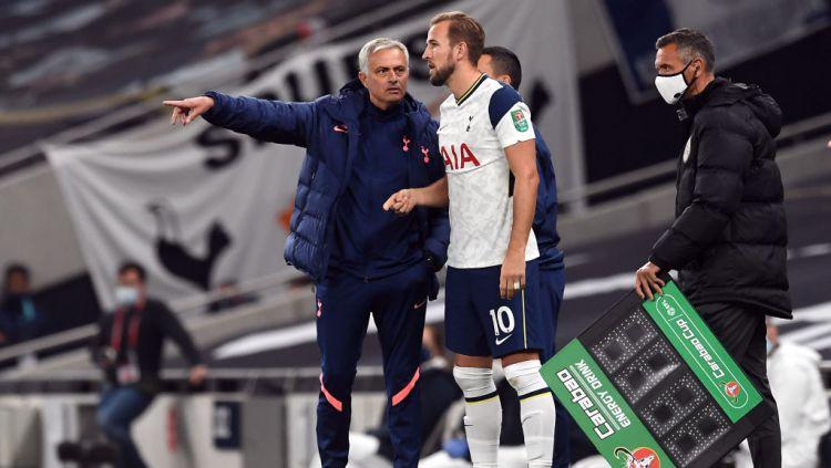 Melihat transformasi Harry Kane yang akan menjadi kartu As Tottenham Hotspur dalam Derbi London Utara melawan Arsenal. Copyright: © Neil Hall/PA Images via Getty Images