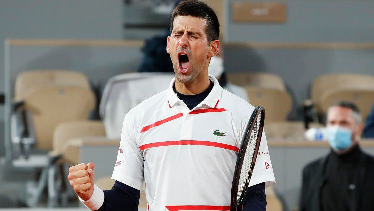 Novak Djokovic memastikan tiket semifinal Prancis Terbuka 2020. Copyright: © Clive Brunskill/Getty Images