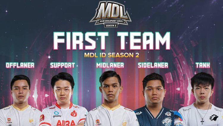 Inilah para pemain yang terpilih menjadi First Team MDL ID Season 2. Copyright: © Instagram/mdl.indonesia