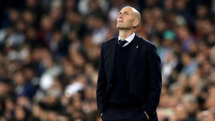 Pelatih Real Madrid, Zinedine Zidane, memberikan pujian selangit untuk Liverpool jelang leg pertama babak perempatfinal Liga Champions 2020-2021. Copyright: © Angel Martinez/Getty Images
