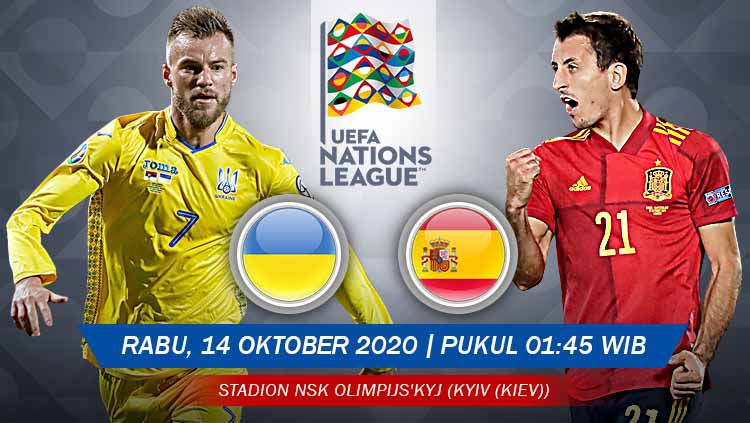 Prediksi Pertandingan UEFA Nations League: Ukraina vs Spanyol Copyright: © Grafis: Yanto/Indosport.com