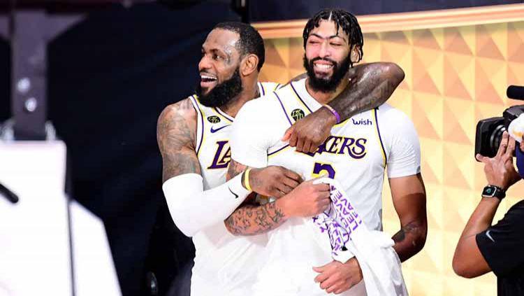 LeBron James dan Anthony Davis (Los Angeles Lakers). Copyright: © Douglas P. DeFelice/Getty Images